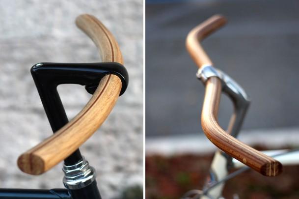 Manubri in legno artigianali Biascagne Cicli