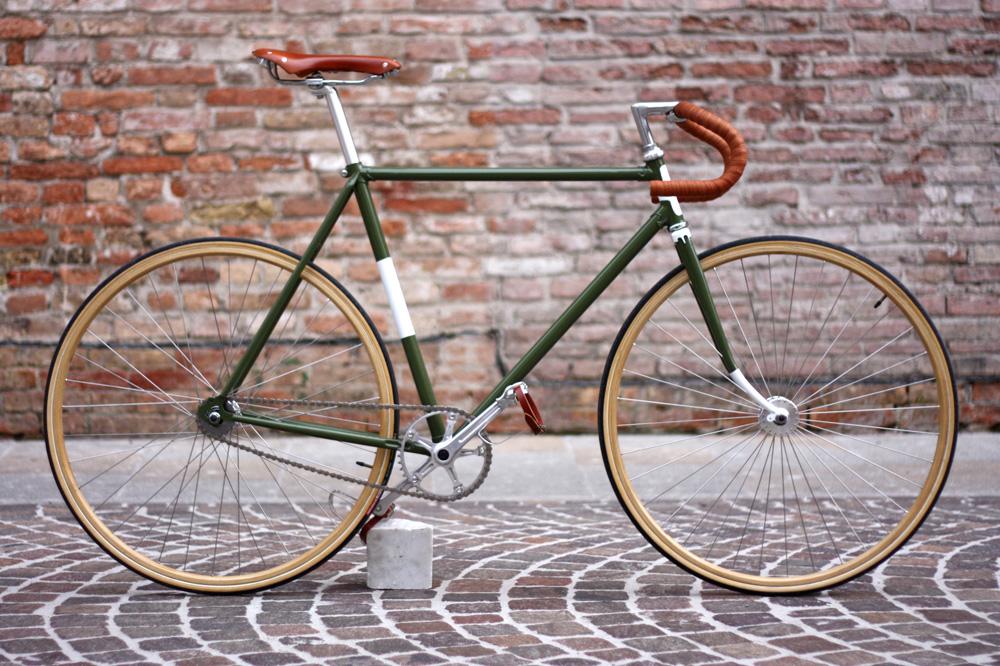 Bici Scatto Fisso Oliva Biascagne Cicli
