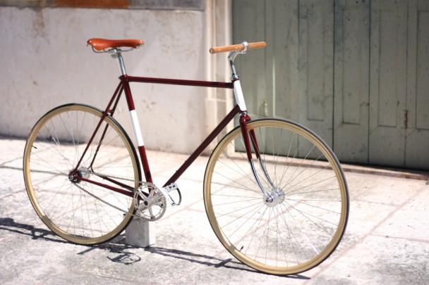 Bici vintage a scatto fisso