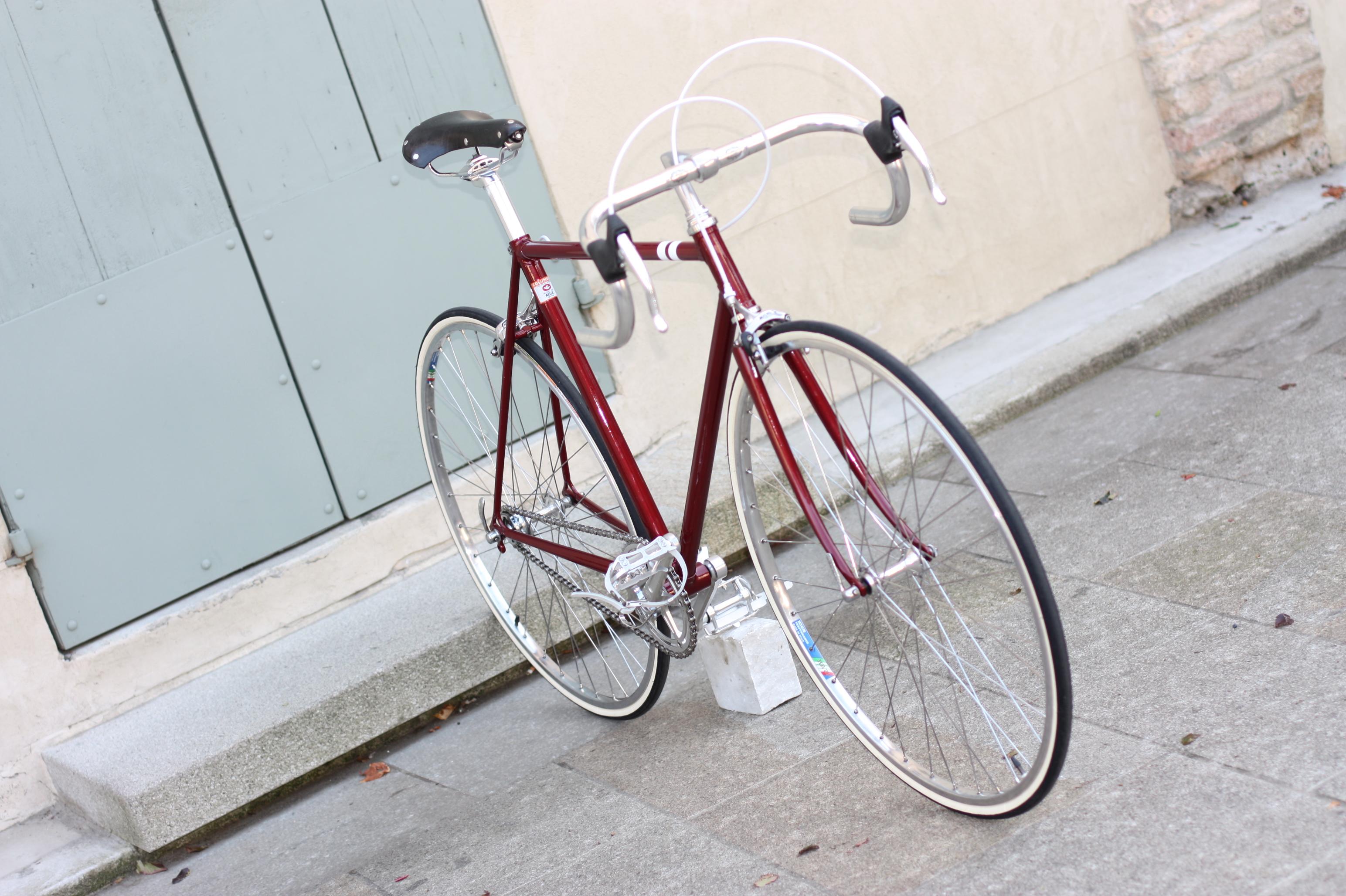 Bici corsa vintage est restyling a singlespeed for Bici supermarket